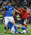 Federico Balzaretti and David Silva Euro 2012 final 01.jpg