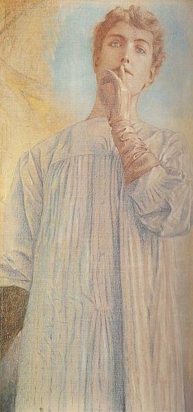 Silêncio- Fernand Khnopff (1890)