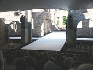 Bad Hersfelder Festspiele - The festival stage in the Abbey ruins