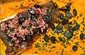 Filet de flétan, purée de carottes à la badiane, sauce vierge (radis, oignons rouges et graines de courge).jpg
