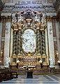 Filippo della valle, annunciazione, 1750, 01, altare con colonne di verde antico.jpg