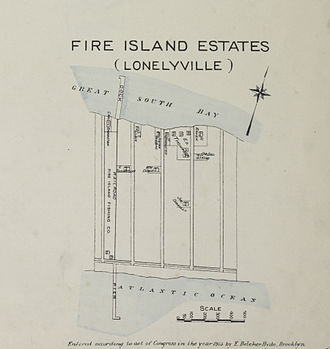 Lonelyville, New York - Fire Island Estates (Lonelyville); 1915.