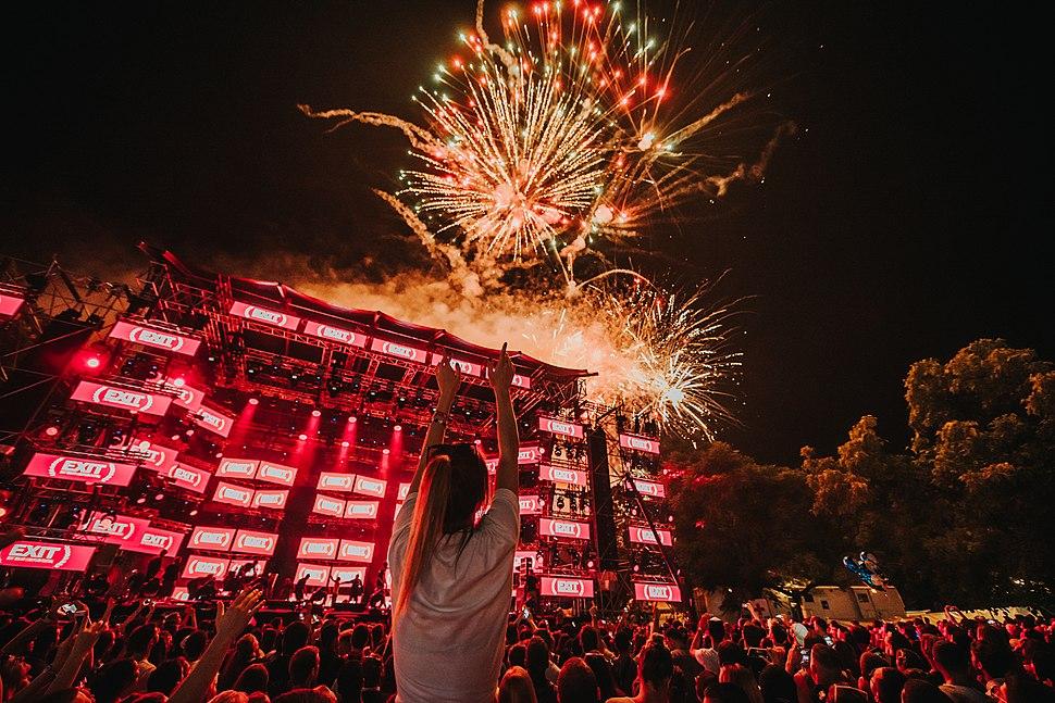 Fireworks at EXIT Festival 2018