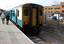 First scheduled arrival at Ebbw Vale Town railway station - geograph.org.uk - 4479337.jpg