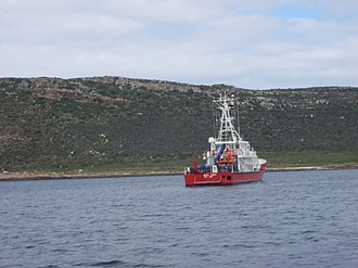 Ruth First - Fisheries protection vessel Ruth First at Buffels Bay.