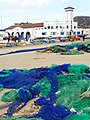 Fishing Nets with Building of Fishermen's Fraternity - Cartagena - Spain (14259581258).jpg