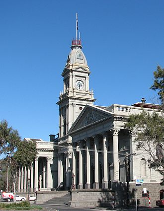 Fitzroy, Victoria - Former Fitzroy Town Hall, now functions as secondary offices for the City of Yarra