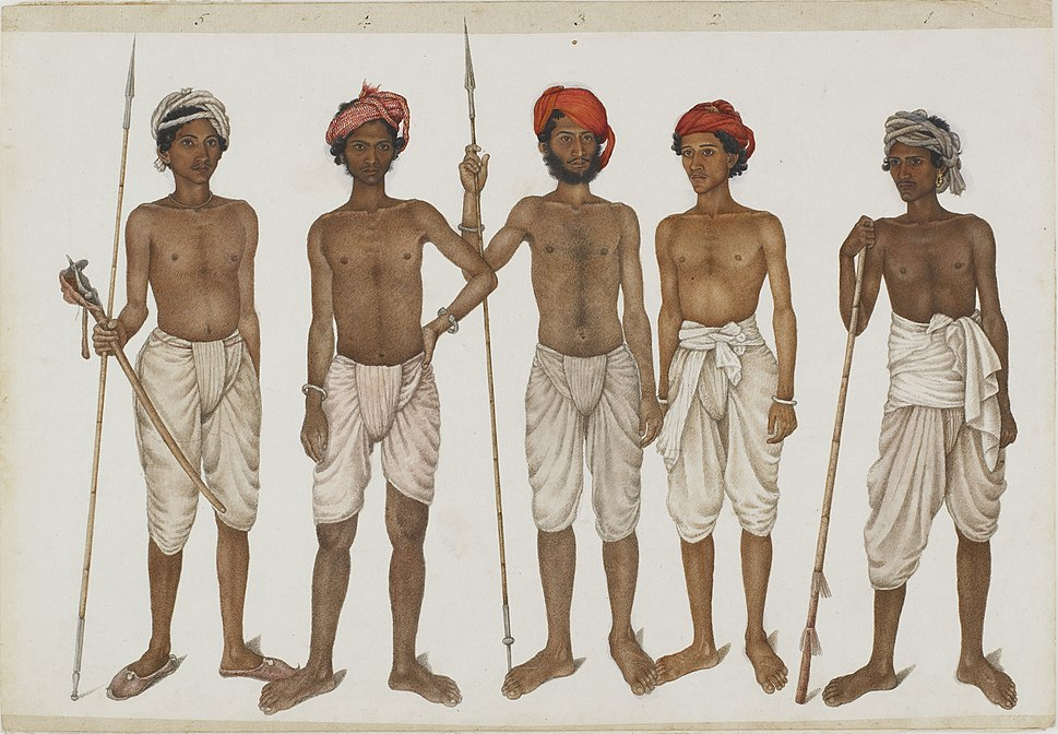 Five Recruits- Ummee Chund, Indur, Goolzaree, Bukhtawur and Juhaz - Google Art Project