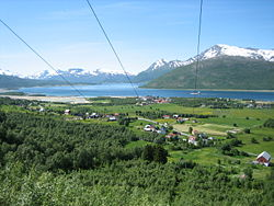 View of Fjelldal in the summer