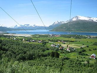 Tjeldsund - View of Fjelldal in the summer