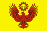 Flag of arms of Pallasovsky district 2008 (official).png