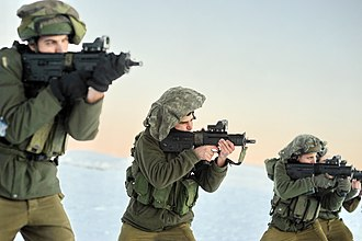 IWI Tavor X95 - IDF soldier with the X95 on Mount Hermon.
