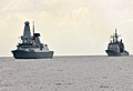 Flickr - Official U.S. Navy Imagery - HMS Dauntless underway with USS Anzio for UNITAS 2012..jpg