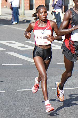 Florence Kiplagat - Image: Florence Jebet Kiplagat winning the Berlin Marathon 2011