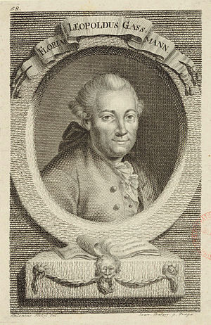 Florian Leopold Gassmann - Florian Leopold Gassmann, engraving (1775) by Johann Balzer