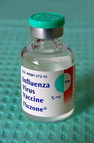 Fluzone - A 5cc vial of Fluzone