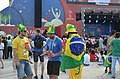 Football supporters of Brazil at FIFA World Cup 2018 (Moscow, 26.06.2018).jpg