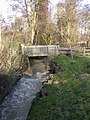 Footbridge and weir by Talton Mill - geograph.org.uk - 1726904.jpg