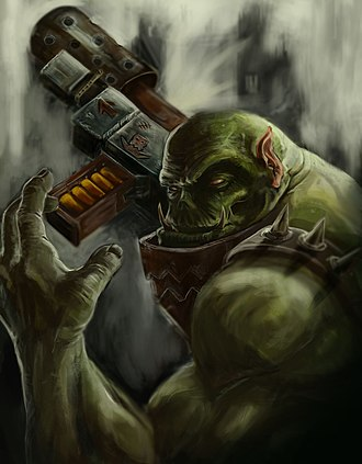 Orc - For the Love of Waaagh, an Ork from Warhammer 40,000.