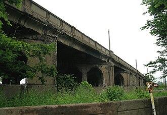 Fort Street–Pleasant Street and Norfolk & Western Railroad Viaduct - Image: Fort Street Norfolkand Western RR