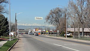 Fort Lupton, Colorado - Looking west along 1st Street.