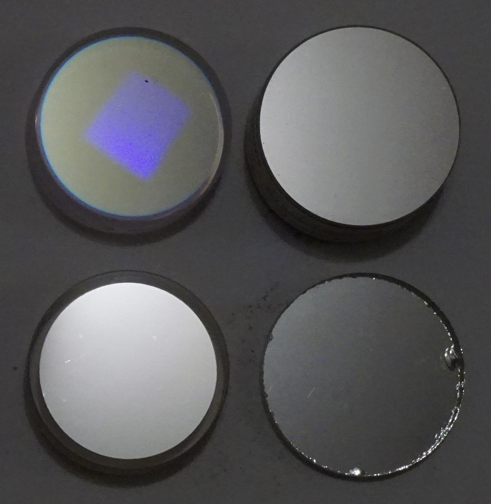 Four mirrors - dielectric aluminum silver and chrome