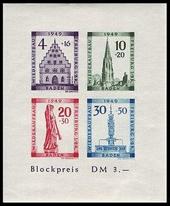Fr. Zone Baden 1949 Bl. 1 B Wiederaufbau Freiburg.jpg