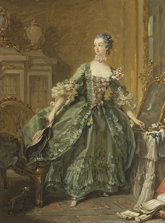 François Boucher, Sketch for a Portrait of Madame de Pompadour (1721 - 1764), c. 1750 at Waddesdon Manor