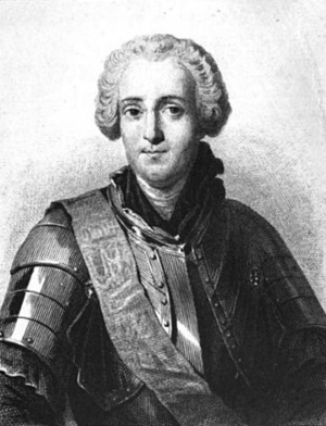 François Gaston de Lévis - A 19th-century engraving of Lévis
