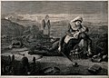 Franco-Prussian War; two nurses treating a soldier on the battlefield. Wellcome V0015475.jpg