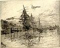 Frank Boggs, Voiliers dans un port, fin du XIXe-début du XXe siècle, Musée d'art et d'histoire de la ville de Meudon.jpg