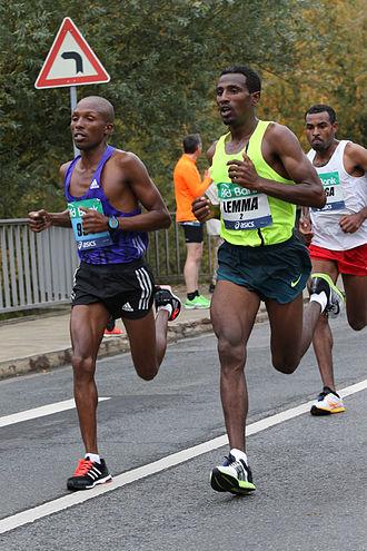 Sisay Lemma - Running his personal best in Frankfurt.