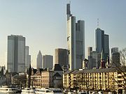 "Frankfurt am Main � popularly referred to as ""Mainhattan""  � is Germany's financial centre."