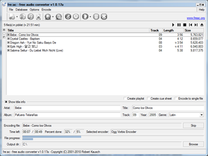 CD ripper - Image: Freac 1.0.17
