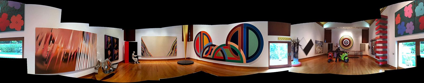 Works on display at the Frederick R. Weisman Art Foundation