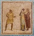 Fresco in situ theatre scene house Quadretti Teatrali Pompeii.jpg