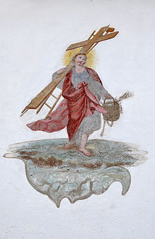 Fresco on Parish Church Saint Peter Lajen.jpg