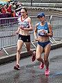 Freya Murray and Olena Burkovska - 2012 Olympic Womens Marathon.jpg