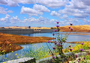 Friant Dam - Image: Friant Dam & Milerton Lake