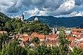 Friesach Petersberg Burg und Peterskirche SO-Ansicht 04092017 0739.jpg