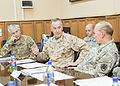 From left front, U.S. Army Gen. John F. Campbell, the incoming commander of the International Security Assistance Force and U.S. Forces-Afghanistan; U.S. Marine Corps Gen. Joseph F. Dunford Jr., the outgoing 140826-D-HU462-286.jpg