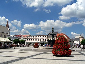 Karviná District - Town square in Karviná-Fryštát