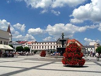 Karviná - Town square in Karviná-Fryštát