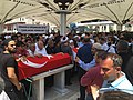 Funeral at Istanbul mosque for victim of 2016 coup attempt, July 17, 2016.jpg