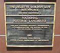 GA Savannah J G Low HD Oglethorpe NHL plaque01.jpg