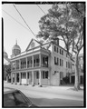 GENERAL VIEW, FROM NORTHEAST - Branford-Horry House, 59 Meeting Street, Charleston, Charleston County, SC HABS SC,10-CHAR,266-1.tif