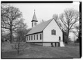 GENERAL VIEW, FROM SOUTHWEST - St. Ignatius Church, 2315 Brinkley Road, Oxon Hill, Prince George's County, MD HABS MD,17-OXHI,2-9.tif