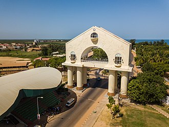 Arch 22 - Arch 22 in Banjul, Gambia, photographed with a drone.