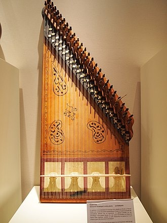Qanun (instrument) - Typical Azerbaijani qanun. Museum of Cognac (France)