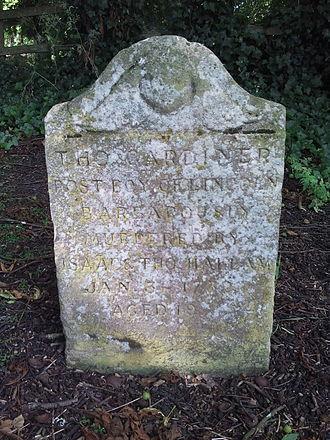 Nettleham - Thomas Gardiner's grave in Nettleham churchyard